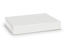 Mellanrum av den tomma vita boken som isoleras med banan Arkivbilder