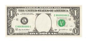 Mellanrum 1 dollar Arkivbild