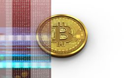 mellanrum för bitcoin 3d Arkivfoton