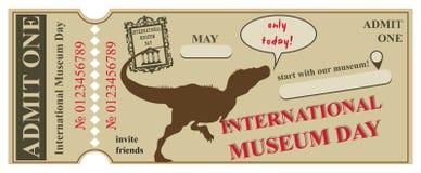 Mellanrum för internationell museumdag för biljett Royaltyfria Foton