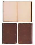Mellanrum gammal bok Arkivfoton