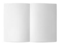 Mellanrum vikt reklamblad på vit Arkivfoto