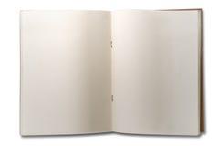 Mellanrumet öppnar anmärkningsboken för två sida arkivfoto