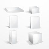 mellanrumet boxes white Royaltyfria Foton