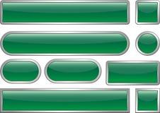 mellanrumet buttons rengöringsduk royaltyfri illustrationer
