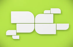 mellanrumet inramniner den gröna runda väggen vektor illustrationer