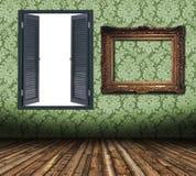 mellanrumet inramniner fönstret stock illustrationer