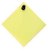 mellanrumet listar pushpinen för att yellow Royaltyfri Fotografi