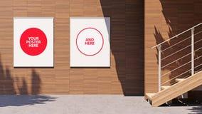 mellanrumsaffischtavla för illustration 3D med kopieringsutrymme för ditt textmeddelande eller innehåll som utomhus annonserar up vektor illustrationer