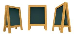 mellanrumsframförande för blackboard 3d Arkivfoton