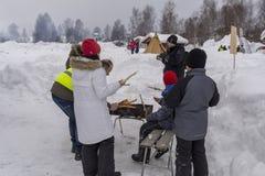 Mellansel Szwecja, Mars, - 07,2018: Dzieci uczą się dlaczego robić chlebowi Obrazy Royalty Free
