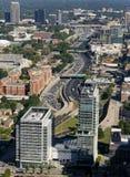 Mellanstatliga 85, i stadens centrum Atlanta, GUMMIN Arkivbilder