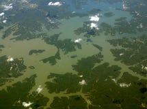 mellanvästern- härlig lake Arkivbilder