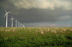 mellanvästern- windfarm Royaltyfri Fotografi