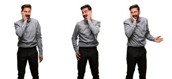 Mellersta ålderman som bär en dräkt fotografering för bildbyråer