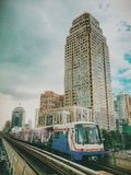 Mellersta Bangkok Arkivbild