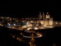 Mellieħa к Ноча Стоковая Фотография