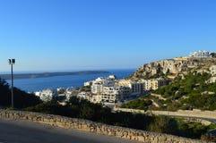 从Mellieha,马耳他的看法 免版税图库摄影