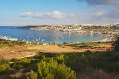 Mellieha, Мальта Стоковая Фотография RF