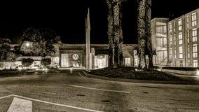 Mellieha Bay Hotel by night, Mellieha, Malta sepia Royalty Free Stock Images