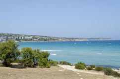 Mellieha Bay. A view of Mellieha Bay, Malta Stock Photos