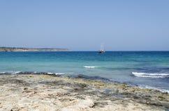 Mellieha Bay. A view of Mellieha Bay, Malta Stock Image