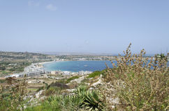 Mellieha Bay. A view of Mellieha Bay, Malta Stock Images