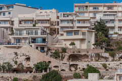Mellieha in Malta. City Mellieha in Malta island and his houses Stock Photography