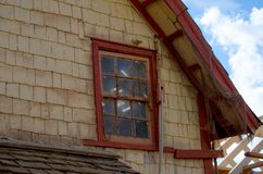 Mellieha , Malta, 30 december 2018 - Silversmith old wooden house in Popeye village stock photo