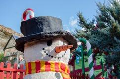 Mellieha, Malta, 30 december 2018 - Snowman in toy town, part of Popeye village stock image
