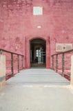 Mellieha Malta, Maj, - 11, 2017: Drzwi świętego Agatha ` s wierza także znać jako rewolucjonistki wierza Fotografia Royalty Free