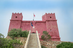 Mellieha, Malta - May 11, 2017: Saint Agatha`s Tower also known as Red Tower. royalty free stock image