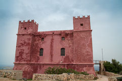 Mellieha, Malta - May 11, 2017: Saint Agatha`s Tower also known as Red Tower. stock photos