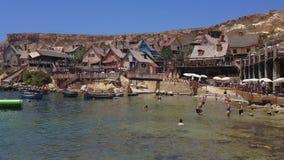 Mellieha, Malta Popeye village theme park view. stock video