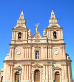Mellieha parish church - Malta. The parish church of Mellieha in Malta Royalty Free Stock Photo