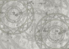 Mellow card clock background Royalty Free Stock Photo