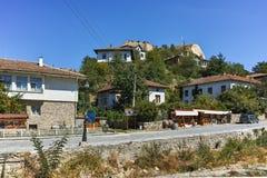 MELNIK BUŁGARIA, WRZESIEŃ, - 7, 2017: Starzy domy xix wiek w miasteczku Melnik, Bułgaria Zdjęcia Royalty Free