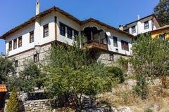MELNIK BUŁGARIA, WRZESIEŃ, - 7, 2017: Starzy domy xix wiek w miasteczku Melnik, Bułgaria Obrazy Royalty Free