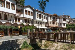 Panorama with Old houses in town of Melnik, Blagoevgrad region, Bulgaria Stock Image