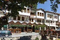 MELNIK, BULGARIE - 7 SEPTEMBRE 2017 : Vieilles maisons du 19ème siècle dans la ville de Melnik, Bulgarie Images libres de droits