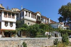 MELNIK, BULGARIE - 7 SEPTEMBRE 2017 : Vieilles maisons du 19ème siècle dans la ville de Melnik, Bulgarie Image stock