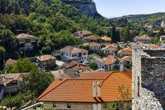 MELNIK, BULGARIE - 7 SEPTEMBRE 2017 : Vieilles maisons du 19ème siècle dans la ville de Melnik, Bulgarie Image libre de droits