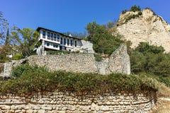 MELNIK, BULGARIE - 7 SEPTEMBRE 2017 : Vieilles maisons du 19ème siècle dans la ville de Melnik, Bulgarie Photo libre de droits