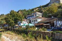 MELNIK, BULGARIE - 7 SEPTEMBRE 2017 : Vieilles maisons du 19ème siècle dans la ville de Melnik, Bulgarie Images stock