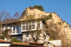 Melnik House and mountains, Bulgaria Stock Photography