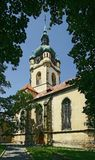 Melnik town - Petr and Pavel church. Melnik -  Petr and Pavel gothic church - Czech republic Royalty Free Stock Photography