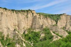 Melnik piaska ostrosłupy są najwięcej fascynujących naturalnych zjawisk Zdjęcie Royalty Free