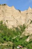 Melnik piaska ostrosłupy są najwięcej fascynujących naturalnych zjawisk Fotografia Royalty Free