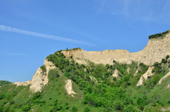 Melnik Sand Pyramids are the most fascinating natural phenomena Stock Image