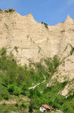 Melnik Sand Pyramids are the most fascinating natural phenomena Royalty Free Stock Photography